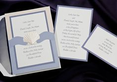Die-Cut Shell Wrap Wedding Invitations by Birchcraft Studios - Invitation Box