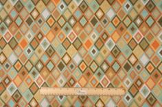 Sample of Claridge Tiles Tapestry Upholstery Fabric in So Happy $15.95 per yard