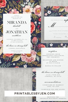 DIY Printable Templates for the Wedding Day and Beyond by PrintablesbyJen, DIY Wedding, DIY Bride Diy Wedding On A Budget, Diy Wedding Invitations Templates, Wedding Invitation Envelopes, Destination Wedding Invitations, Simple Wedding Invitations, Wedding Stationery, Invitation Templates, Printable Templates, Card Templates