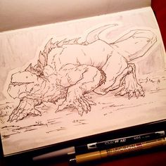 #Inktober day 29. Dunno what I drew, but I bet it'd be down for hugs before maybe eating you.