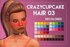 Weepingsimmer: Crazycupcakefr's Hair 03 recolored - Sims 4 Hairs - http://sims4hairs.com/weepingsimmer-crazycupcakefrs-hair-03-recolored/