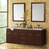 """Found it at AllModern - Bella 61"""" Double Wall Mount Bathroom Vanity Set with Mirror"""