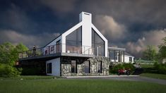The project creates a contemporary addition to a bungalow. The extension has been designed to minimise the impact on the adjoining landscape. House Designs Ireland, Donegal, Bungalow, Architects, Building A House, Minimalism, Contemporary, Mansions, Landscape