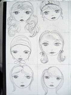 https://flic.kr/p/5mbGvb | Lesson 1 Faces 1 | My face drawing from Lesson 1 of the Suzi Blu drawing workshop. Think I ought to start drawing the faces of my fairies? I've been flirting with the idea of doing so. It would give my work a more unique edge.