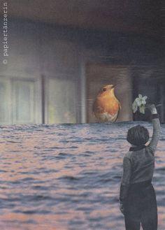 papiertänzerin. | Poesie des Alltags: Collage, Foto, Wort