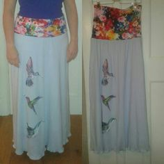 Very elegant version of the maxi dress/skirt with appliqué