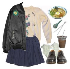 """""""nice"""" by paper-freckles ❤ liked on Polyvore featuring Fortessa, Versace, Opening Ceremony and Dr. Martens"""