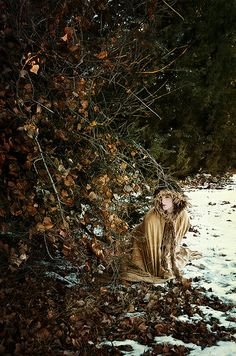 Richness In Winter by Sarah Allegra.  Self portrait for DreamWorld.