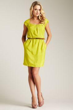 Short Sleeve Blouson Dress by Jessica Simpson on @HauteLook