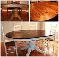 dining table redo - The Harris Life// I can't make up my mind if I am going to do this to mine or not.