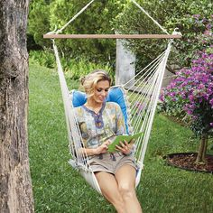 Tufted Single Person Swinging Hammock Chair At Brookstoneu2014Buy Now!