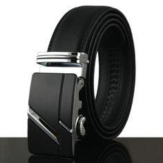 3c19df362f9 Belt New Designer Automatic Buckle Cowhide Leather men belt 110cm-130cm  Luxury belts for men