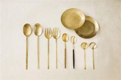 Gilded / Handcrafted Gold Flatware (instagram: the_lane) http://thelane.com