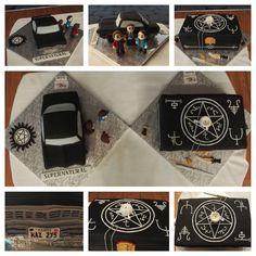 Cake Supernatural... impala car and whitchcraft