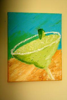 "heART of Sarah: 8"" x 10"" sweet margarita painting"