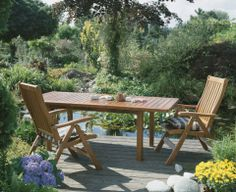 Garden furniture protected with Decking Oils (007 Teak Oil, clear)