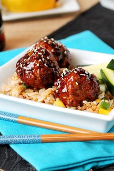 Try these meatballs made with mango, apples and homemade teriyaki sauce for your next dinner.