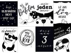 Milníkové kartičky pro miminka. Toddler milestone cards. Originální ilustrované kartičky od Lucky Sobelové, zdarma ke stažení a vytisknutí. Luxusní a kouzelné ilustrace, kterými můžete vylepšit svoje rodinné album.
