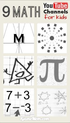 9 math YouTube channels for school age kids to learn math, and to be fascinated by math thinking and ideas. Great STEM resource for math class, math tutor, math homework help, or homeschool math teaching.