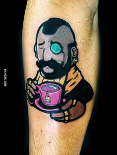 "My response to: ""Mr Afternoon T"" Made by LineArts Tattoo @ Copenhagen"