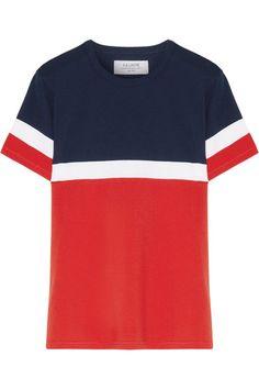 Red, midnight-blue and white cotton-jersey Slips on 100% cotton Machine wash