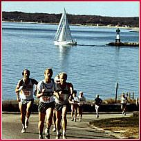 """Cape Cod Marathon.  Considered to be one of the most scenic races in America...  And I won't feel so guilty when I down a couple gallons of clam """"chowdah"""" afterwards."""