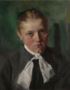 Wilhelm Leibl - Bauernmädchen 1897