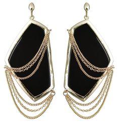 Kavita earring, black onyx