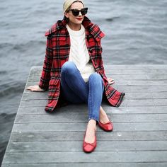 Nothing says fall like a plaid coat!