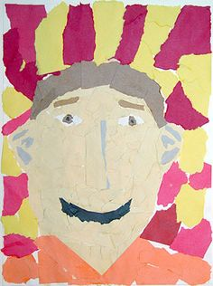 Fourth Grade Art Lesson 15   Torn Paper Portraits Part 2 Completing Our Portraits