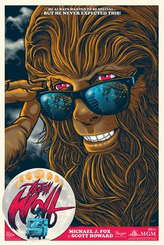 An alternative movie poster for the film Teen Wolf, created by Ghoulish Gary Pullin, featured on AMP Teen Wolf Movie, Teen Wolf 1985, Teen Wolf Poster, Screen Print Poster, Poster Prints, Art Prints, Movie Prints, Rock Posters, Film Posters