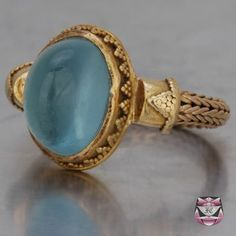 Victorian Etruscan Aquamarine Ring…gorgeous even though I'm not a fan of yellow gold…I'd make an exception for this little lovely. Victorian Etruscan Aquamarine Ring…gorgeous even. Antique Engagement Rings, Antique Rings, Antique Jewelry, Vintage Jewelry, Vintage Rings, Antique Silver, Handmade Jewelry, Aquamarine Jewelry, Turquoise Jewelry