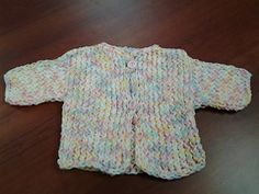 Ravelry: Loom Knit Baby Sweater pattern by Ruth A. Volk ~ free pattern.