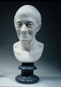 Jean-Antoine Houdon, Buste de Voltaire, louvre, photographie de P. Philibert