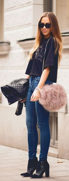 Fluffy feminine details to otherwise relaxed/structured outfits  #Fluffy by Kenzas => Click to see what she wears