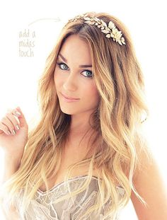 lauren conrad- flower headband