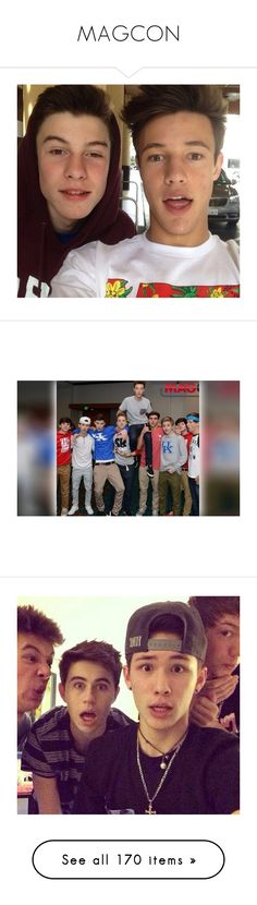 """""""MAGCON"""" by ebeohp16 ❤ liked on Polyvore featuring magcon, shawn, boys, cameron, cameron dallas, people, ppl, magcon boys, youtubers and pictures"""