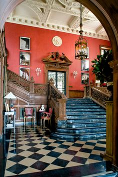 Maison de Luxe show house at the historic Greystone mansion in Beverly Hills. Grand Foyer by Timothy Corrigan