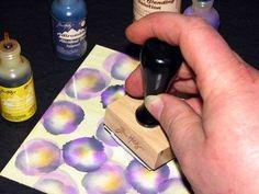 Adirondack Alcohol Ink Pansy Card Step 3