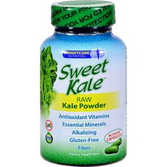 Brightcore Nutrition Kale Powder - Sweet - 90 Vegan Capsules