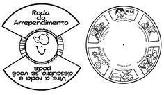 Para a atividade Roda do Arrependimento  você vai precisar de:   Roda do Arrependimento  Papel para imprimir  1 colchete     Após imprimi...