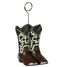 Cowboy Boots Photo/Balloon Holder