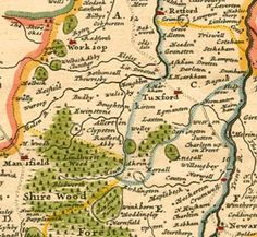 Detail from H. Moll's Map of Nottinghamshire