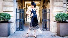 Here's a peak at Leafy's Paris Fashion Week Photoshoot with brazilian Super Model Eliza Kruger Silk fringed Ombre Crochet Dress by Leafy Top Hat by Gavilane Paris Photo by Audrey My Model: Eliza Kruger Special Thanks to Le Pavillon de La Reine Hotel, Marais, Paris