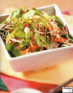 Ανάμικτη σαλάτα με φύτρες φασολιών - Συνταγή i-Food.gr by Giorgio Spanakis