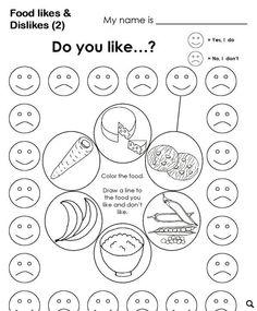 healthy food list for kids diet free recipes Graphing Activities, Kindergarten Worksheets, Worksheets For Kids, Printable Worksheets, Learning Activities, Teaching Kids, Kids Learning, Likes And Dislikes, 1 Gif