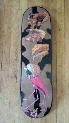 """Math.I """"charm by proxy"""" Orginal Art Skateboard Deck  This deck was created for The Dark Slide Spring 2014 Skateboard Deck Art Show at Eronel.  *note deck is currently in show and will not ship until first part of July  A little more about Math.I.  You might have seen his artwork for Ampheta..."""