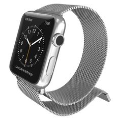 X-Doria Apple Watch 38mm Mesh Band Silver, Adult Unisex