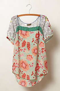 Anthropologie - Archival Collection: Mixed Print Top