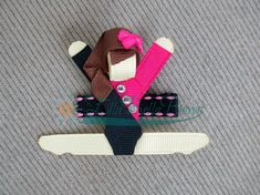 Gymnast Ribbon Sculpture Hair Clip Gymnastics Accessory made